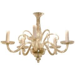 Venetian Glass and Brass Chandelier