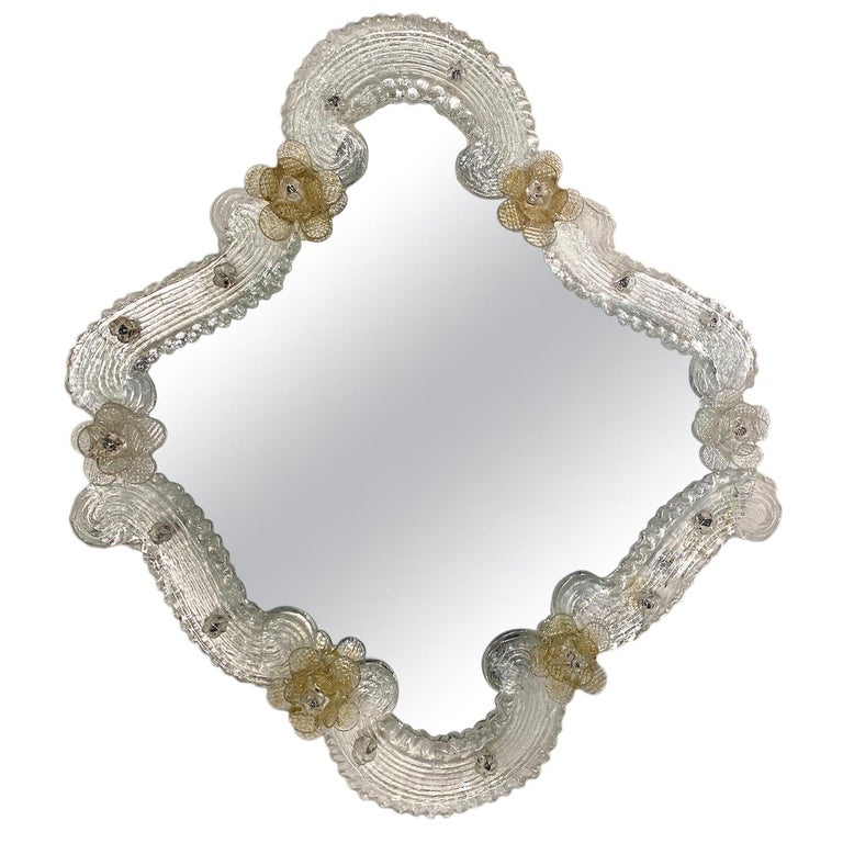Venetian Glass Mirror For Sale