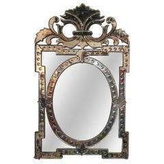 Venetian Glass Wall or Console Mirror