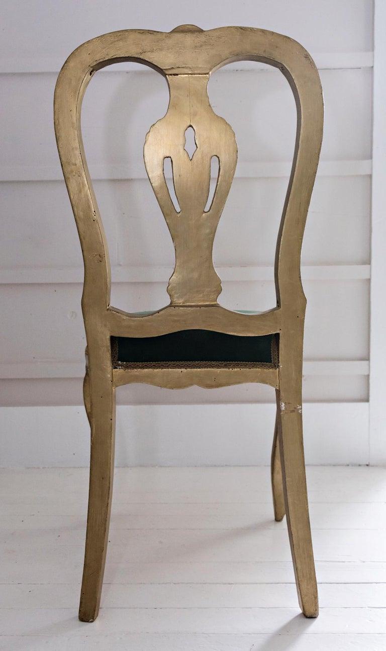 Italian Venetian Hand Painted Chair For Sale