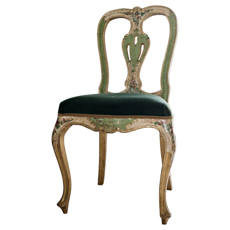 Venetian Hand Painted Chair For Sale