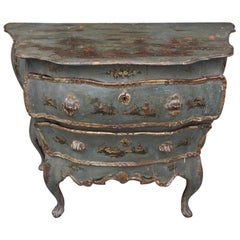 Venetian Hand Painted & Gilt Figural and Pagoda Two Drawer Commode, circa 1780