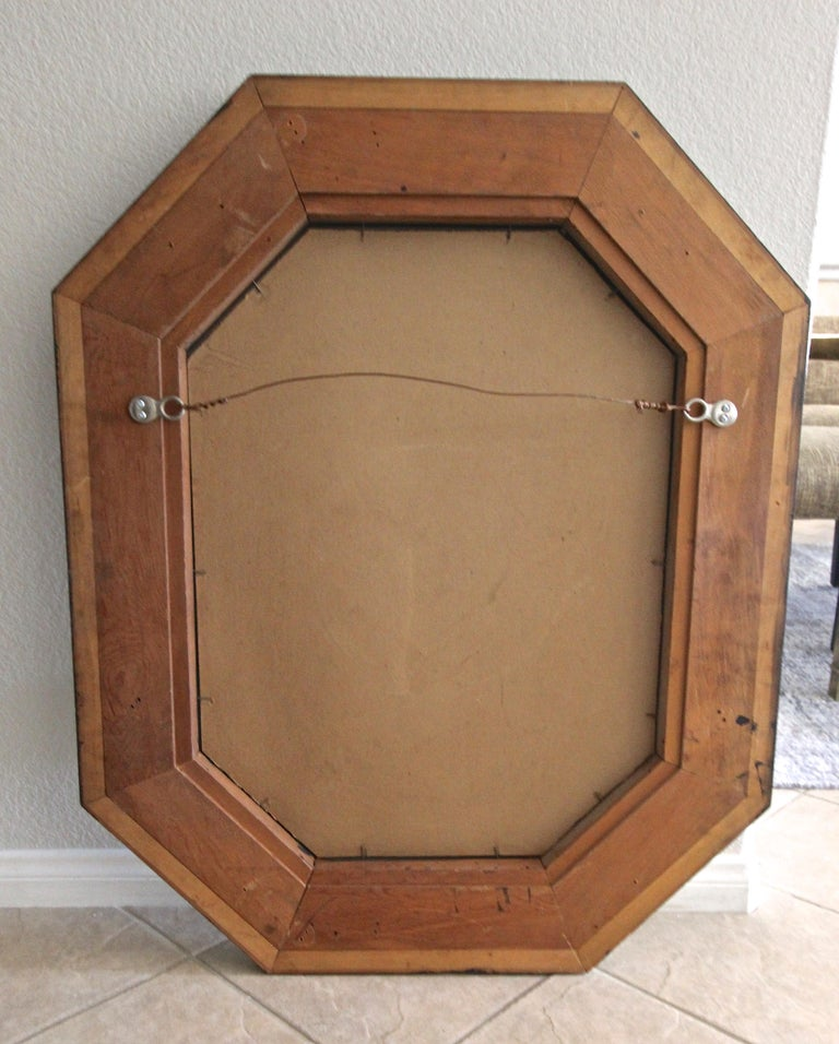 Venetian Italian Octagonal Etched Wall Mirror For Sale 14