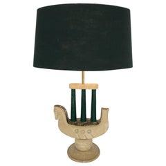 VENETIAN PLASTER LAMP Modelled as a Horse, 1940s