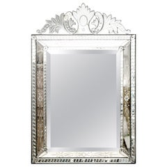 Venetian Mirror, Etched and Beveled, circa 1920