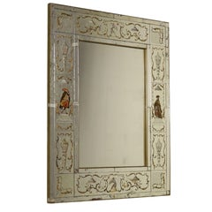 Venetian Mirror with Decorations Vintage, Italy, 1930s-1940s