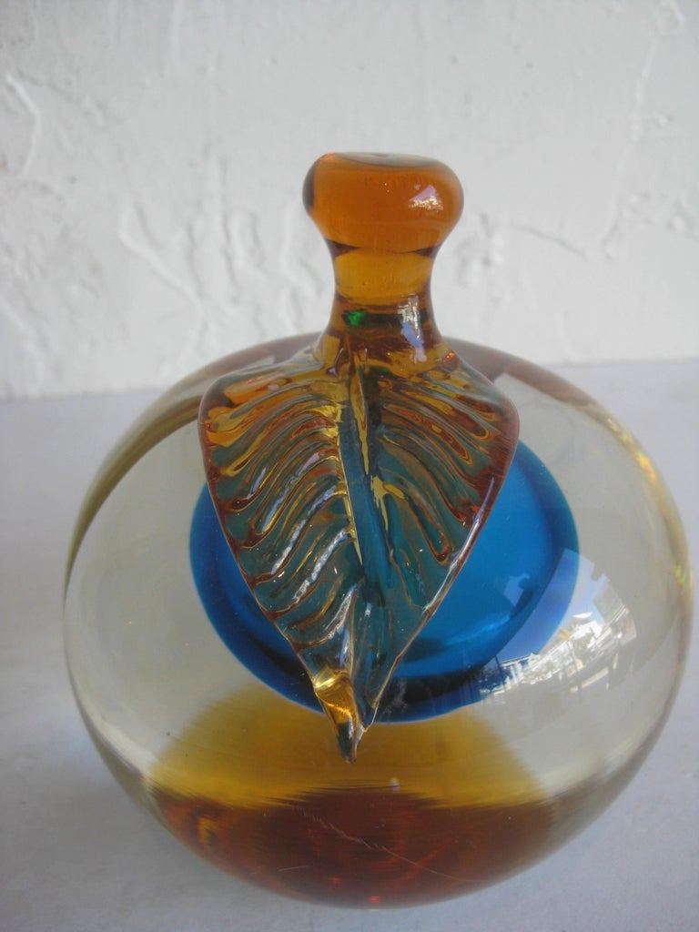 Venetian Murano Art Glass Sommerso Apple & Pear Bookends by Alfredo Barbini For Sale 10