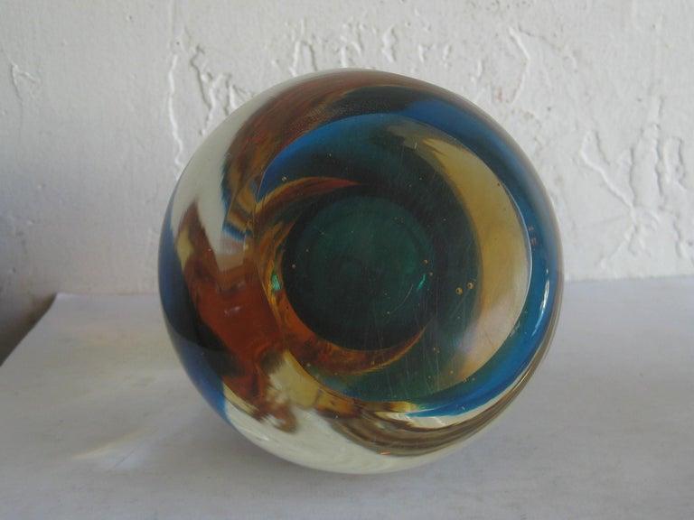 Venetian Murano Art Glass Sommerso Apple & Pear Bookends by Alfredo Barbini For Sale 12