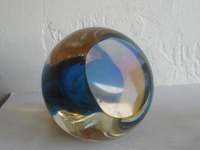 Venetian Murano Art Glass Sommerso Apple & Pear Bookends by Alfredo Barbini For Sale 13