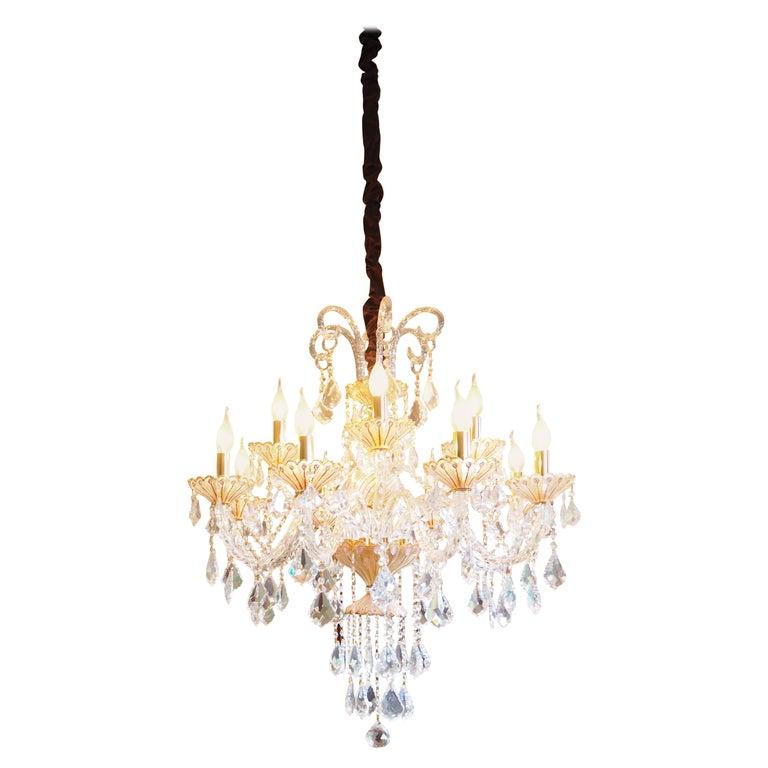 8817631ac266 Venetian Murano Crystal Chandelier with Swarovski Crystal For Sale ...
