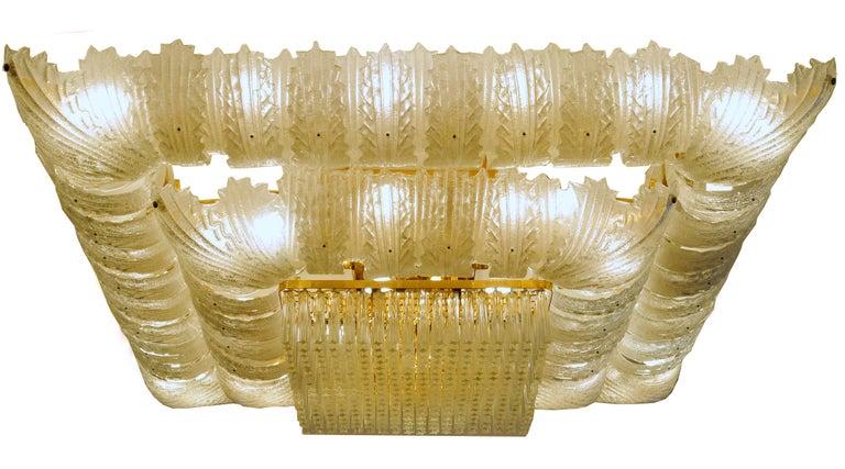 Venetian Murano Glass Ceiling Light For Sale 4