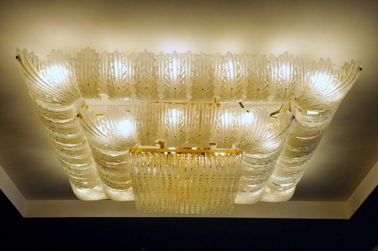 Venetian Murano Glass Ceiling Light For Sale 5
