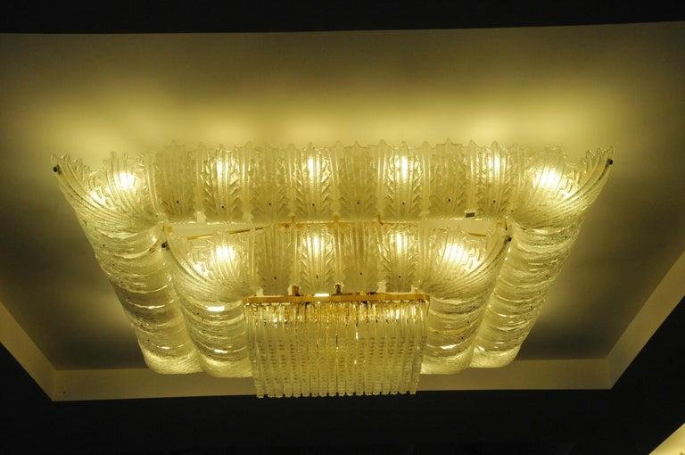 Venetian Murano Glass Ceiling Light For Sale 6
