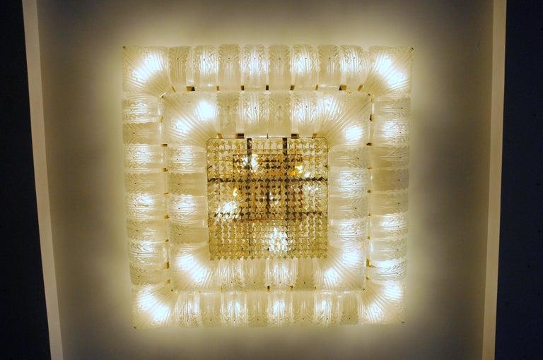 Venetian Murano Glass Ceiling Light For Sale 7
