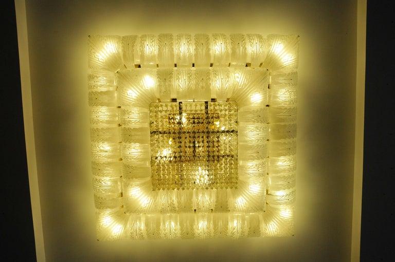 Venetian Murano Glass Ceiling Light For Sale 8