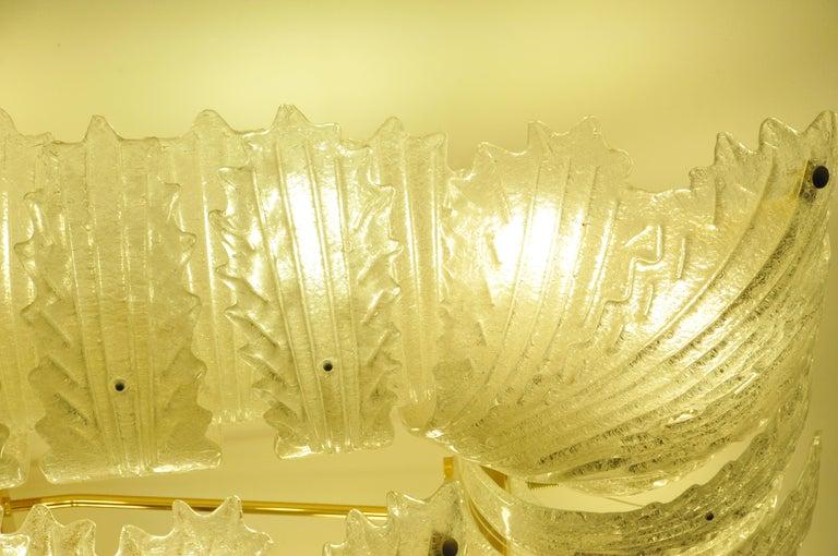 Venetian Murano Glass Ceiling Light For Sale 9
