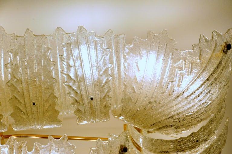 Venetian Murano Glass Ceiling Light For Sale 10