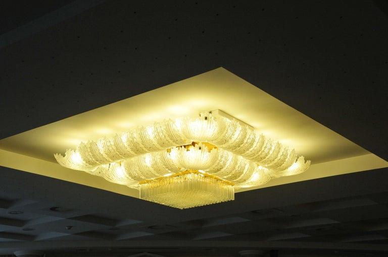 Venetian Murano Glass Ceiling Light For Sale 11