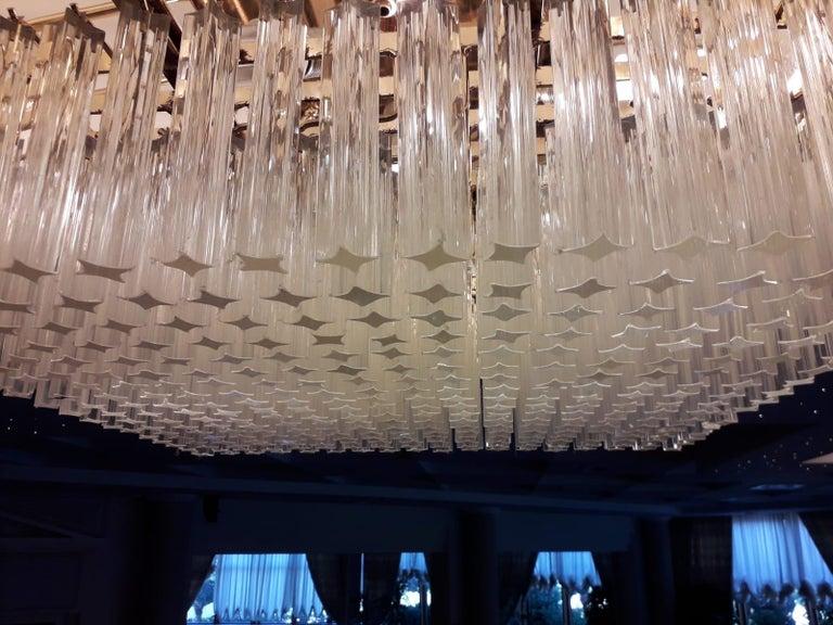 Italian Venetian Murano Glass Ceiling Light For Sale