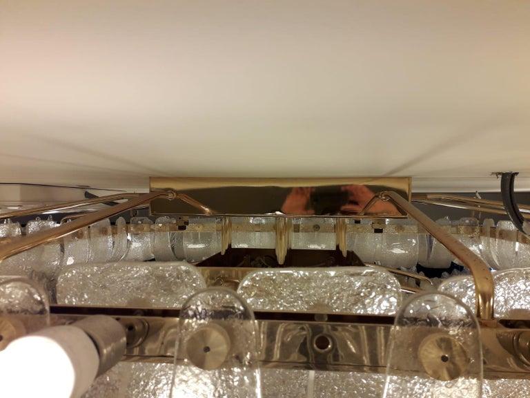 Venetian Murano Glass Ceiling Light For Sale 2