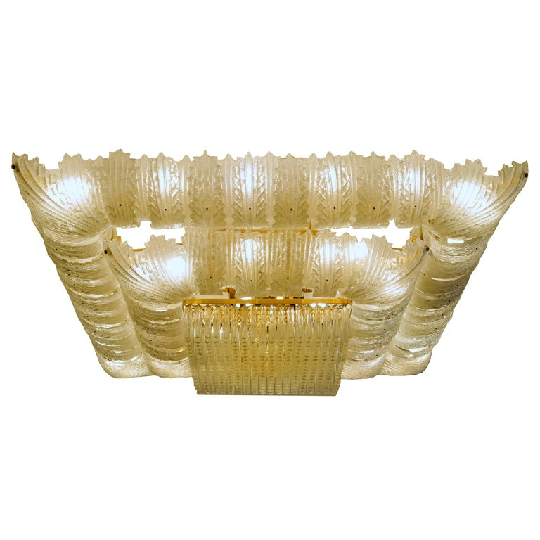 Venetian Murano Glass Ceiling Light For Sale