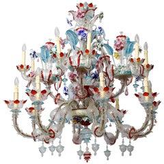 Venetian Murano Glass Chandelier, circa 1950