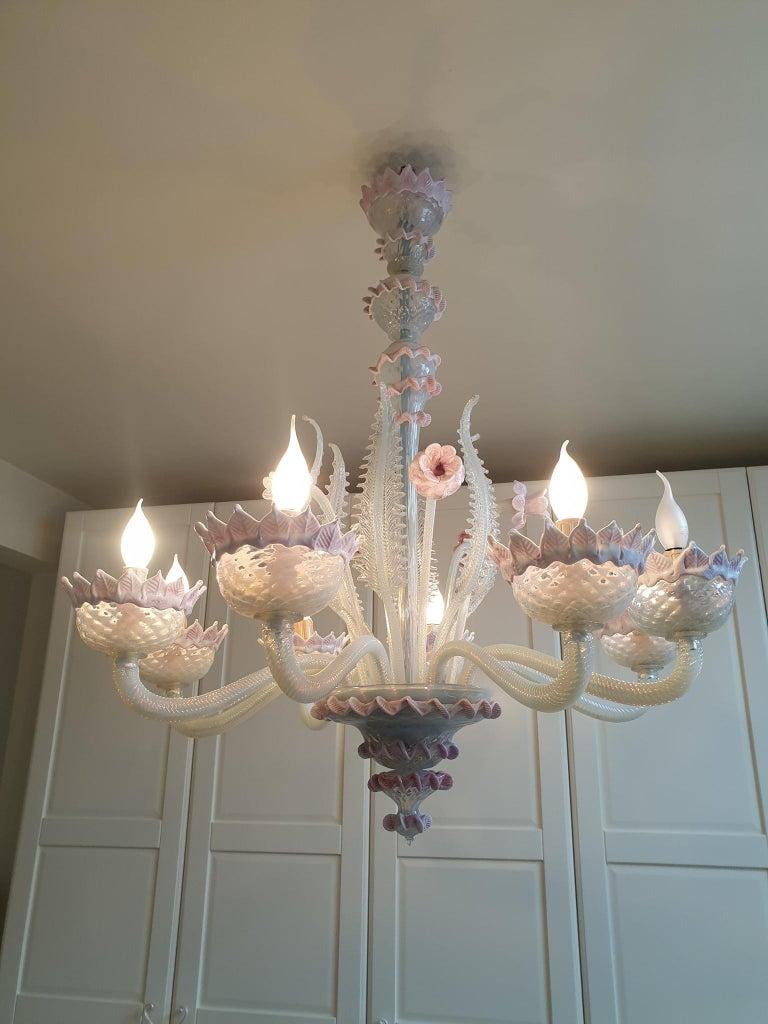 Venetian Murano Glass Chandelier For Sale 10
