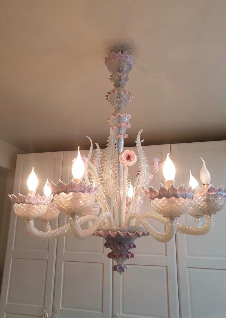 20th Century Venetian Murano Glass Chandelier For Sale