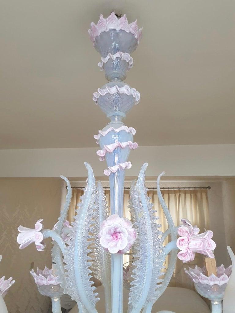 Venetian Murano Glass Chandelier For Sale 2