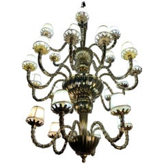 Venetian Murano glass chandelier, Italy, circa 1980