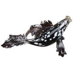 Venetian Murano Glass Fish Sculpture, Late 20th Century