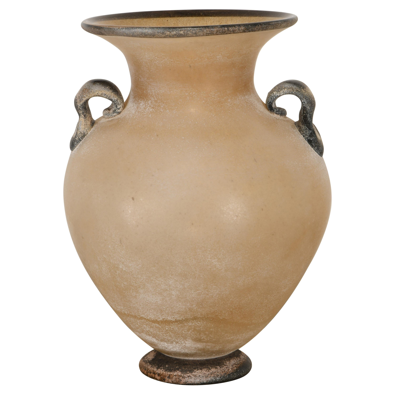 """Murano """"Scavo""""  Glass Vase, 1980s"""