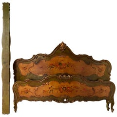 Venetian Painted Antique Dubble Bed