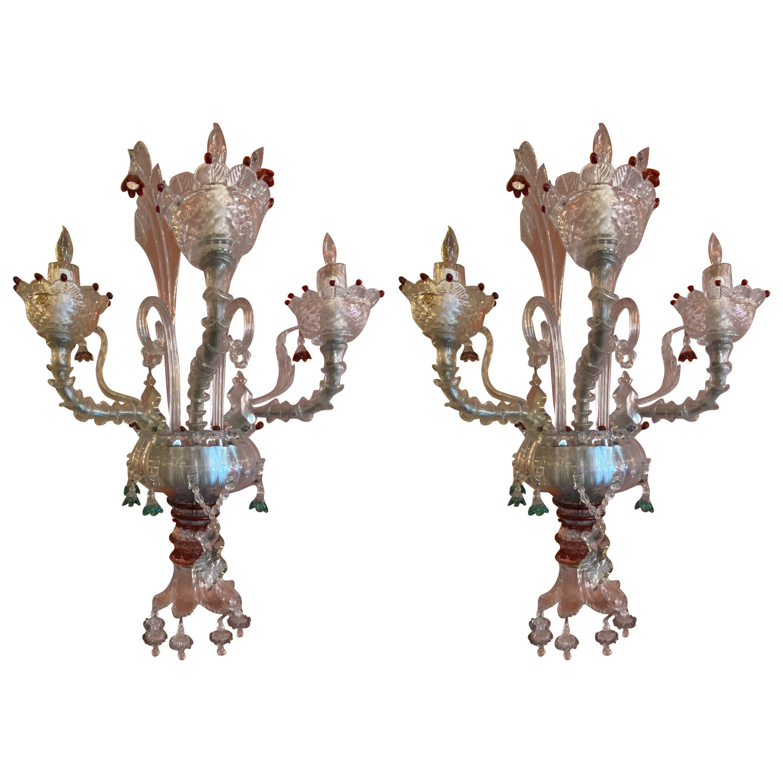 Venetian Pair of Sconces