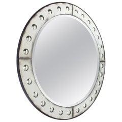 Venetian Round Bubble Mirror, circa 1950