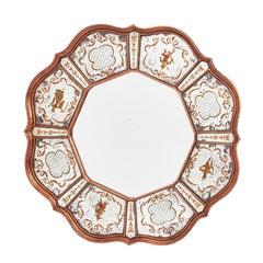 Venetian Scalloped Eglomisée Circular Mirror, circa 1950