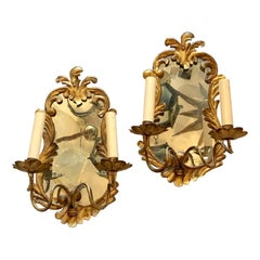 Venetian Sconces with Mirror Backplate