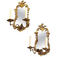 Venetian Sconces with Mirrored Backplate
