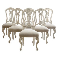 Venetian Set of 6 Dining Chairs Made by La Maison London