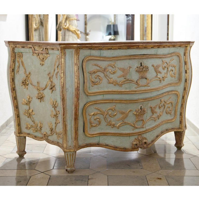 Venetian-Style Chest of Drawers, Probably Southern Germany, 18th Century For Sale 3