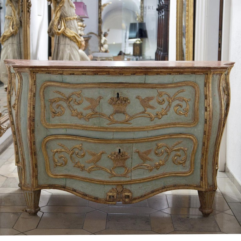 18th Century and Earlier Venetian-Style Chest of Drawers, Probably Southern Germany, 18th Century For Sale