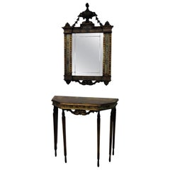 Venetian Style Console Table and Mirror