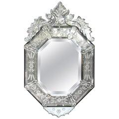 Venetian Style Glass Mirror