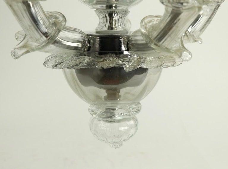 Venetian Style Murano Glass Pendant Chandelier For Sale 1