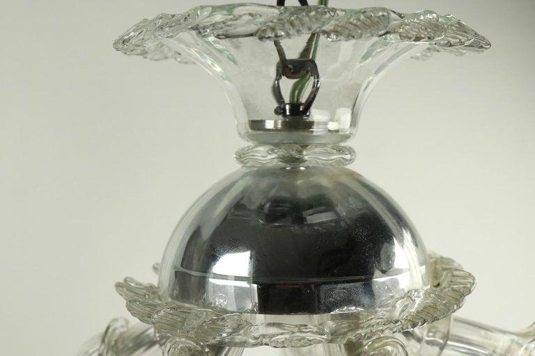 Venetian Style Murano Glass Pendant Chandelier For Sale 2