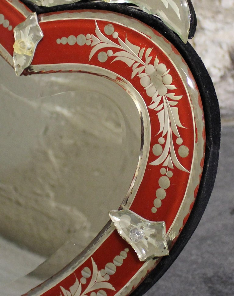 Italian Venetian Wall or Tabletop Mirror For Sale