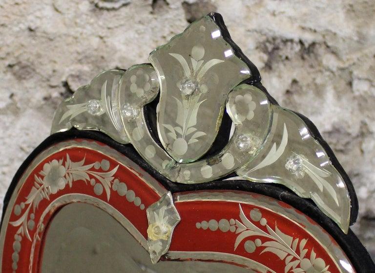 Venetian Wall or Tabletop Mirror In Good Condition For Sale In Hamilton, Ontario
