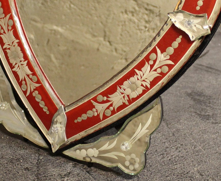 20th Century Venetian Wall or Tabletop Mirror For Sale