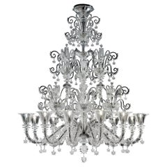 Venezia 1295 5715 12 Chandelier in Glass, by Barovier&Toso