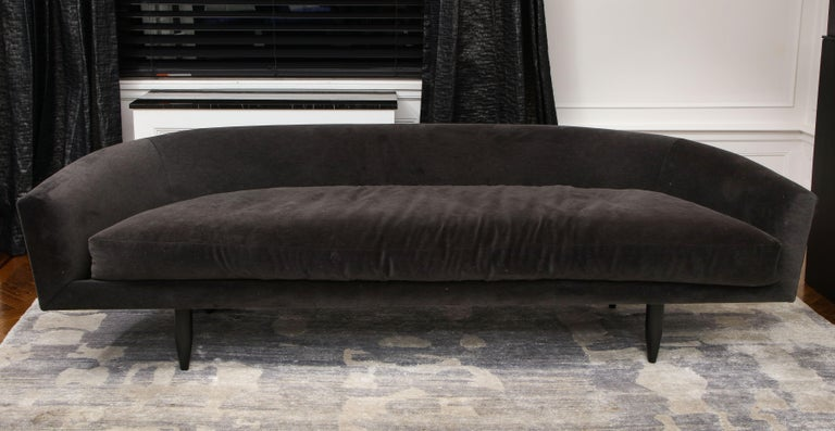 Custom Gondola sofa designed by Venfield. The price does not include the cost of fabric/COM (Customer-Owned-Material). 12 yards of fabric are required to make the size listed. Custom options are available for different sizes and finishes.